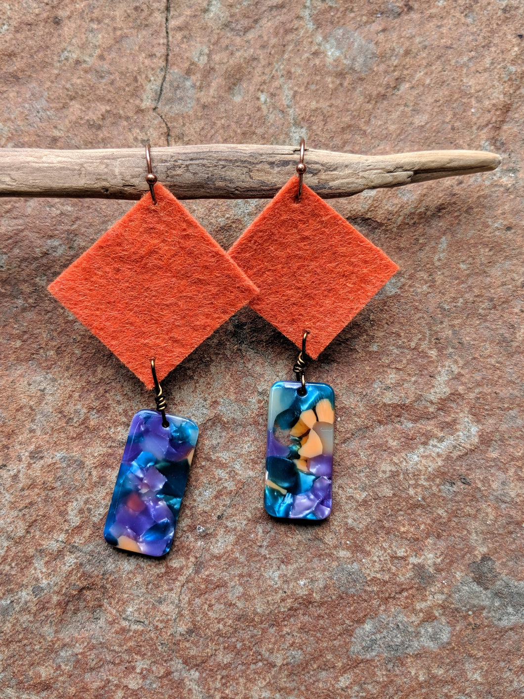 Sienna Square Earrings