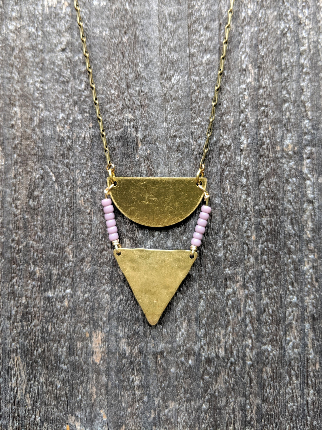 Brass + Lilac Necklace