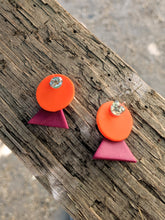 Load image into Gallery viewer, Polymer Sunrise Earrings