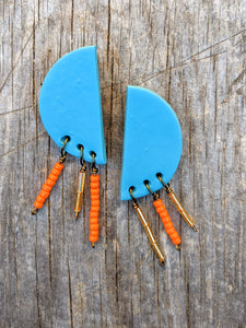 Half Circle Fringe Earrings