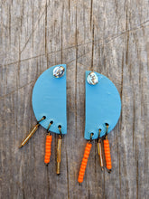 Load image into Gallery viewer, Half Circle Fringe Earrings