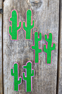 Felt Cactus Earrings