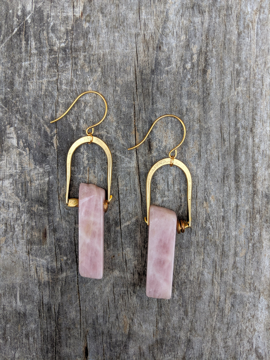 Pink Icicle Earrings