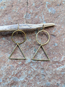 Brass Shapes Earrings