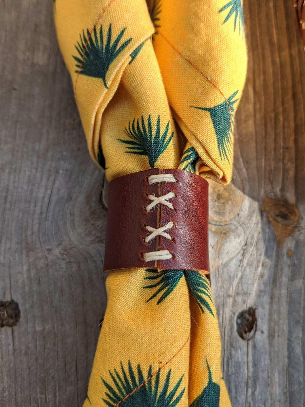 Desert Dreaming Collection: Kerchief + Leather Slide