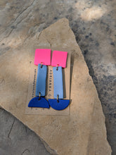 Load image into Gallery viewer, Pink with Shades of Blue Earrings