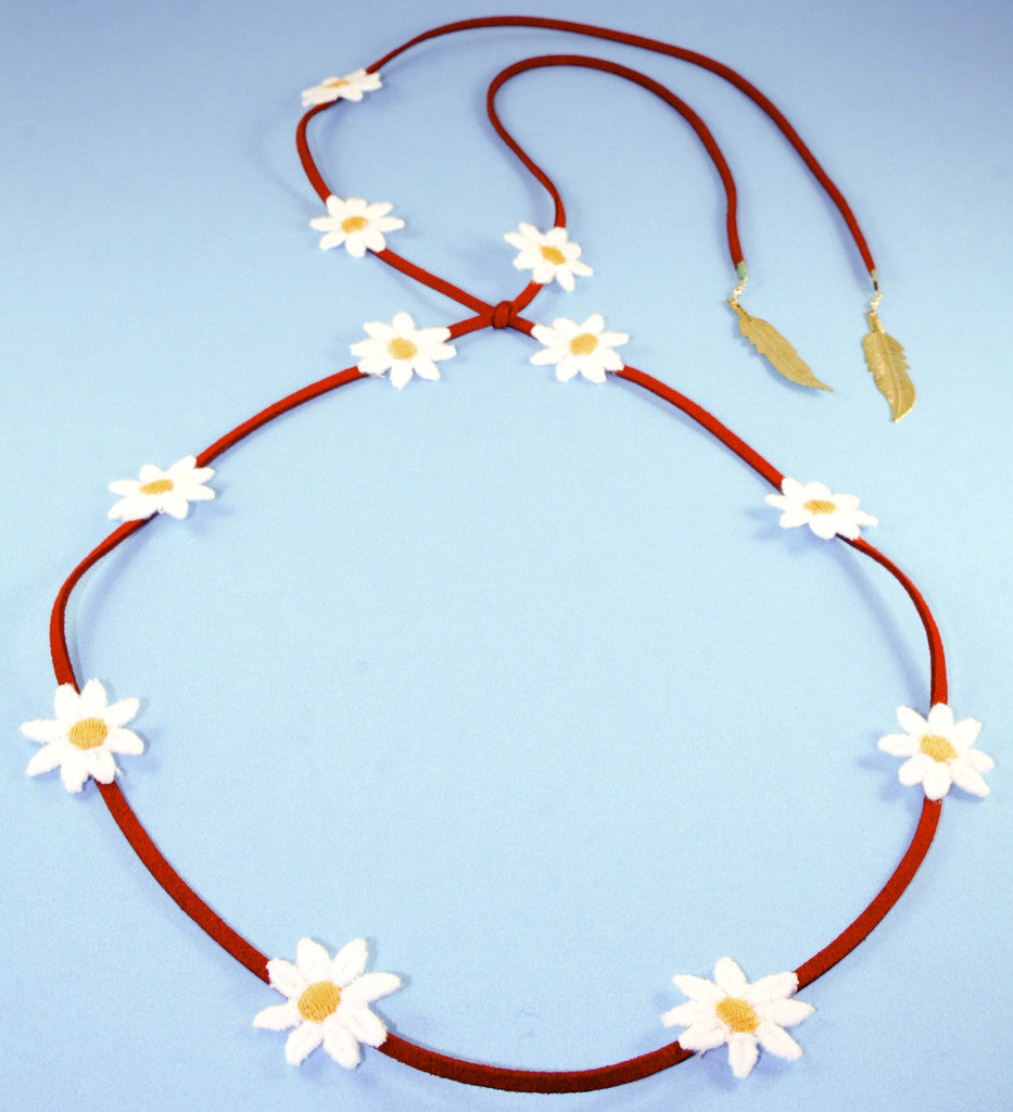 b8a0f1f0222 Yellow Daisy/Red Suede Band