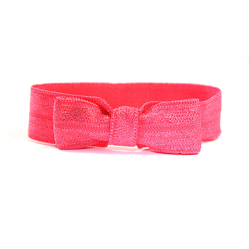 Hot Pink Elastic Bow Tie