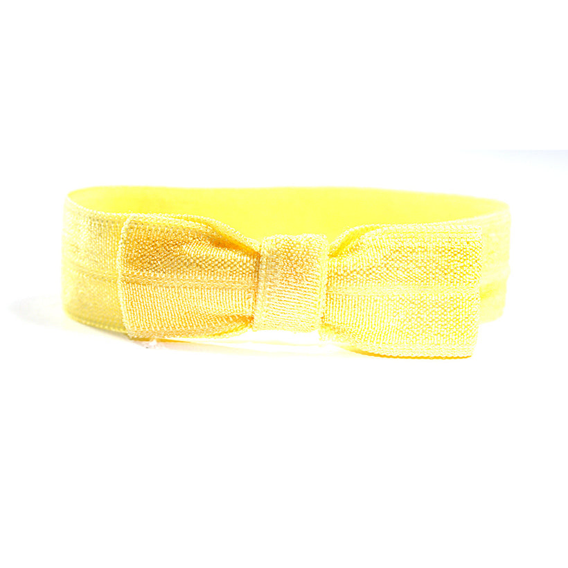 Yellow Elastic Bow Tie