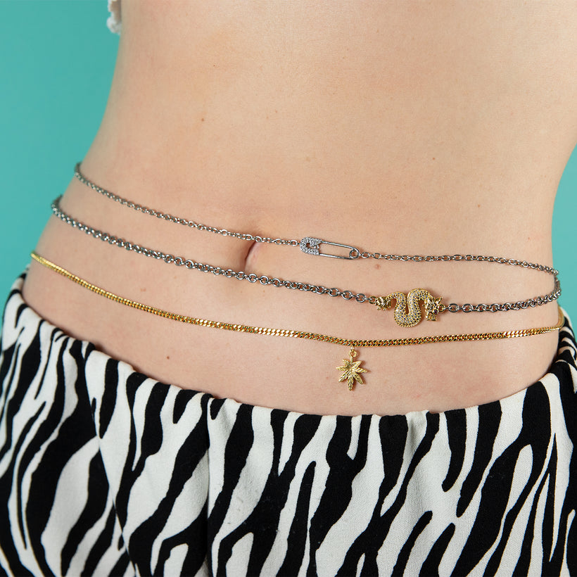Safety Pin Belly Chain
