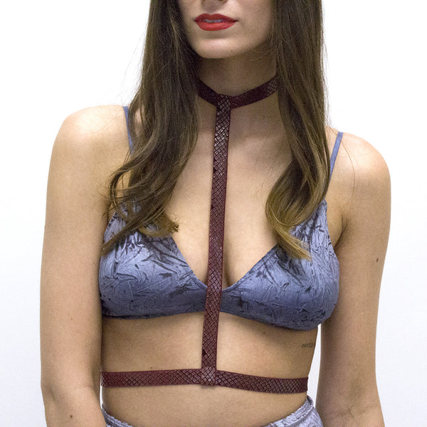 Red Snakeskin Body Harness