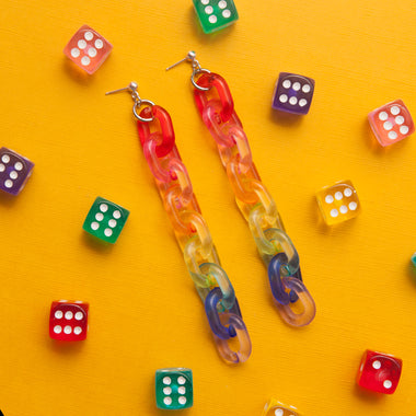 Fruit Loop Chain Earrings