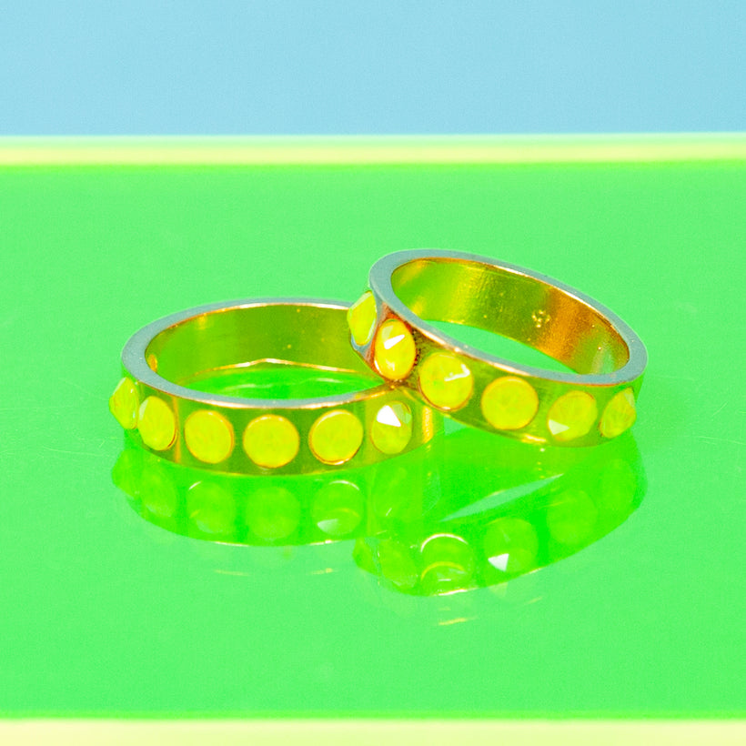 Neon Lights Ring Set