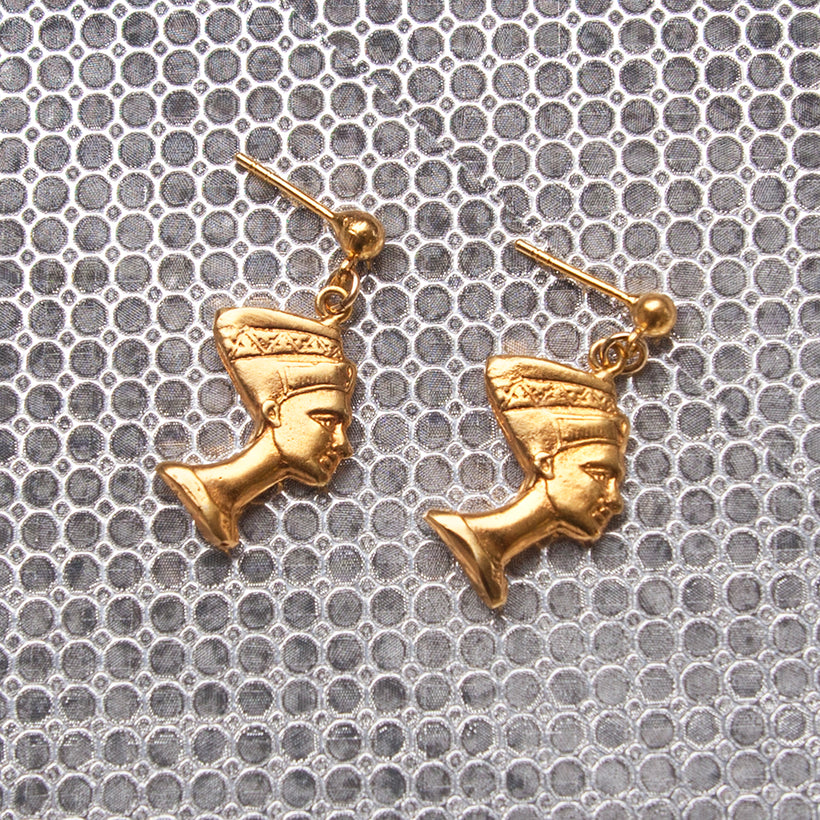 Nefertiti Charm Earrings