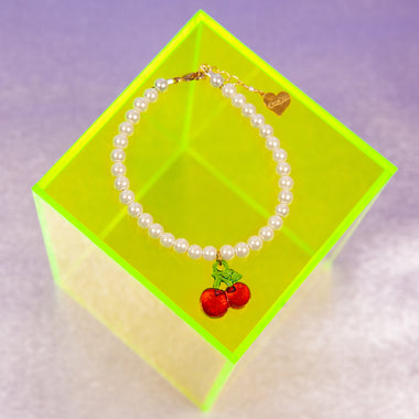 Pearl Cherry Delight Anklet