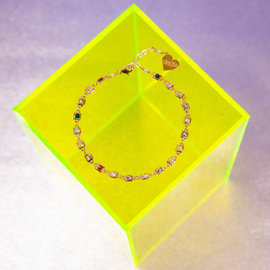 Cubic Square Anklet