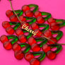 Cherry Nameplate Necklace