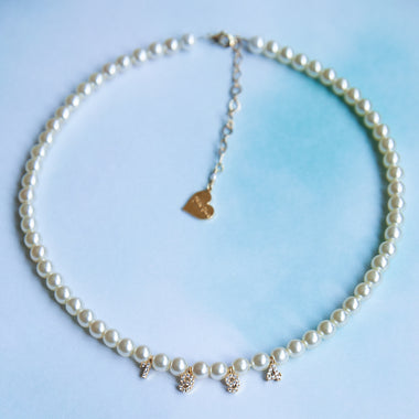 Pearl Custom Number Choker