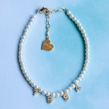Pearl Custom Number Anklet