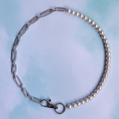 50/50 Pearl Pave Chain Choker