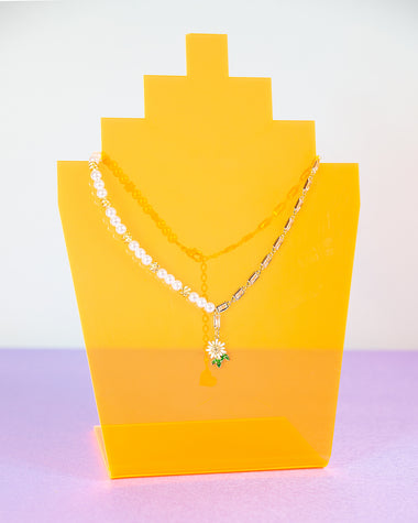 Half Daisy Half Chain Necklace