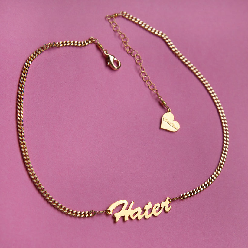 Hater Nameplate Necklace