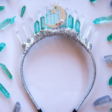 Green Moon Goddess Crown