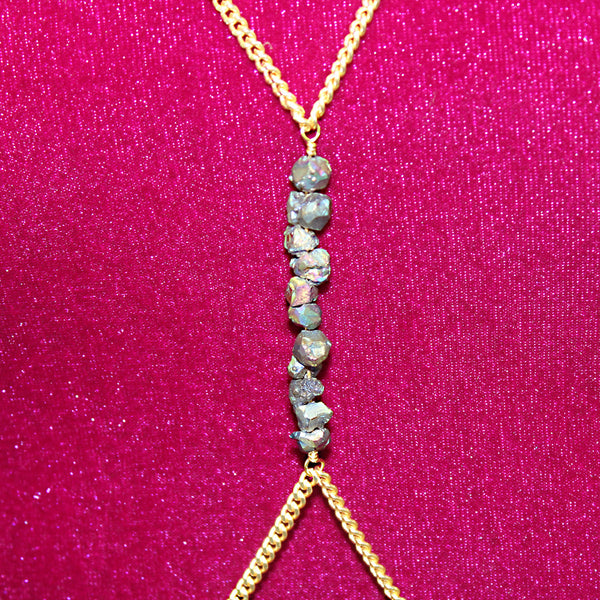 Galaxy Druzy Body Chain