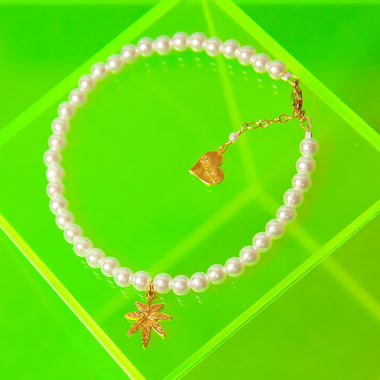 Pearl Mary Jane Anklet