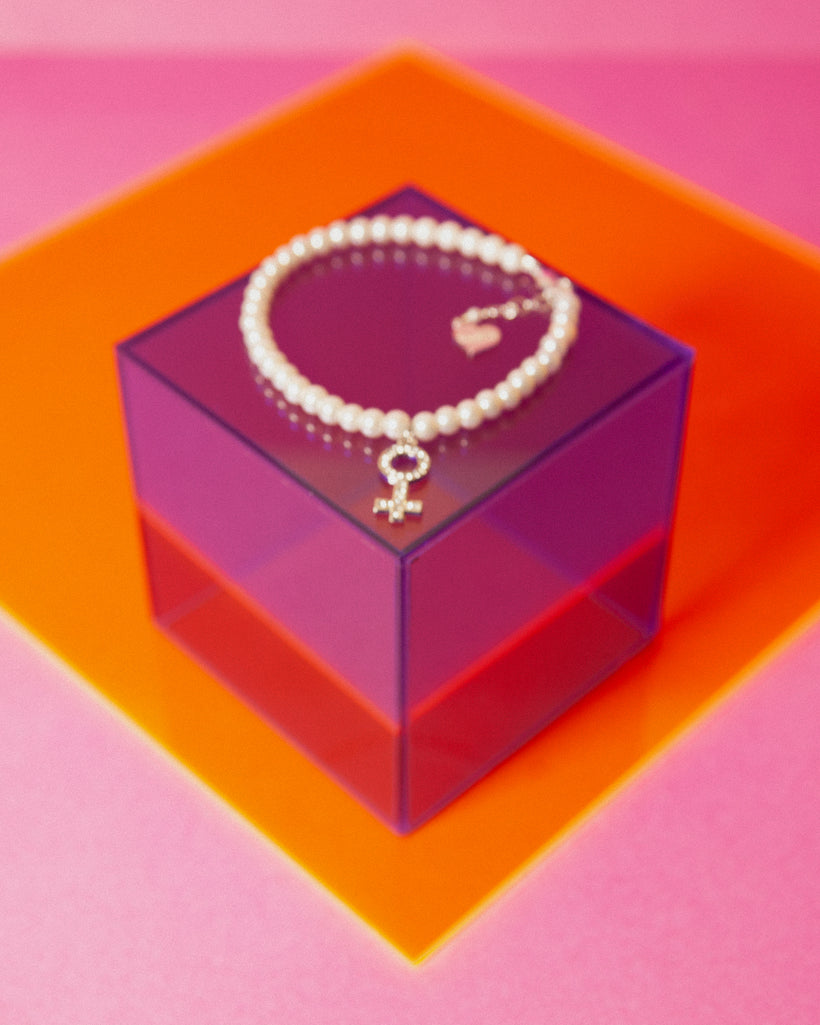 Pearl Girl Power Anklet