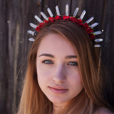 Red Rose Crystal Crown