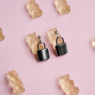 lock earrings