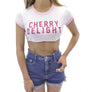 Cherry Delight Ringer Tee