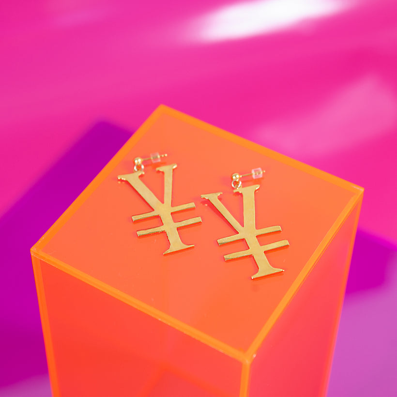 Yen Money Earrings