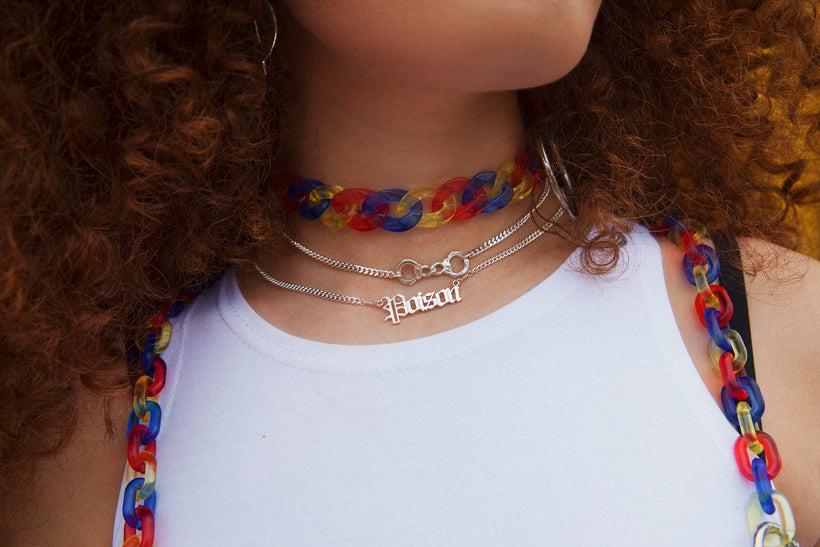 Poison Nameplate Necklace