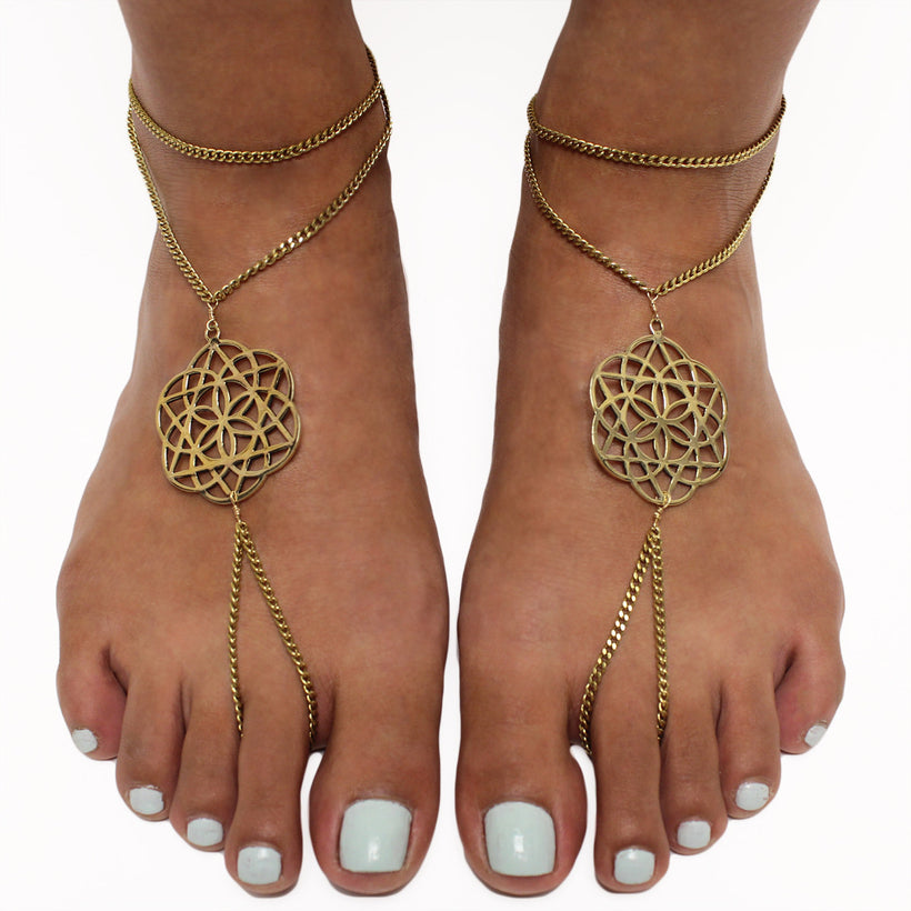 Flower of Life Foot Chain