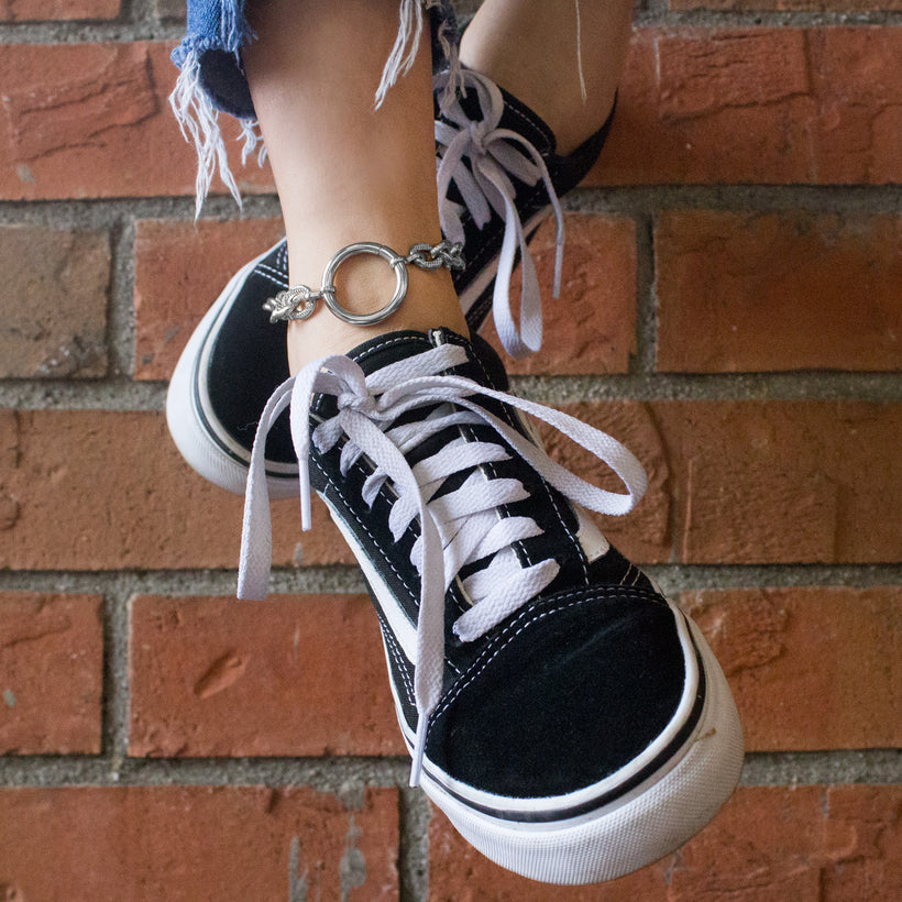 Silver O Anklet