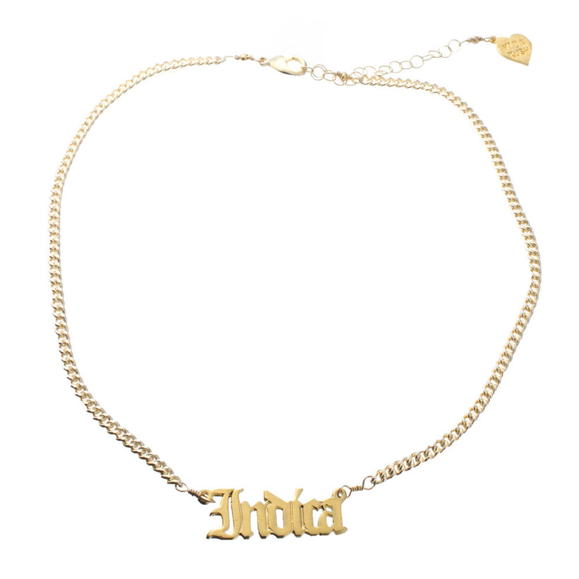 Indica Nameplate Necklace
