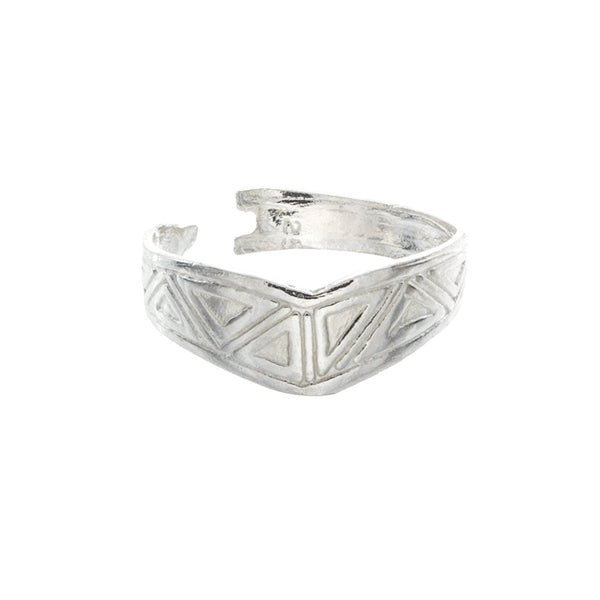 Tribal Chevron Toe Ring