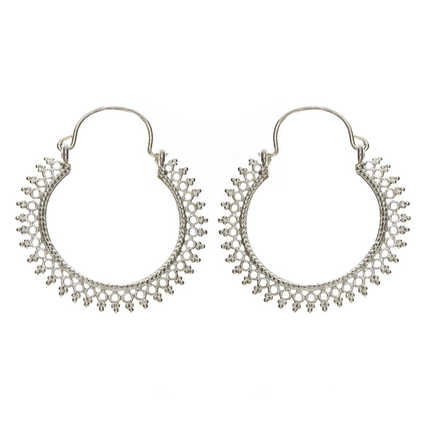 Filigree Hoop Earring