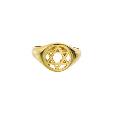 Star of David Knuckle Ring
