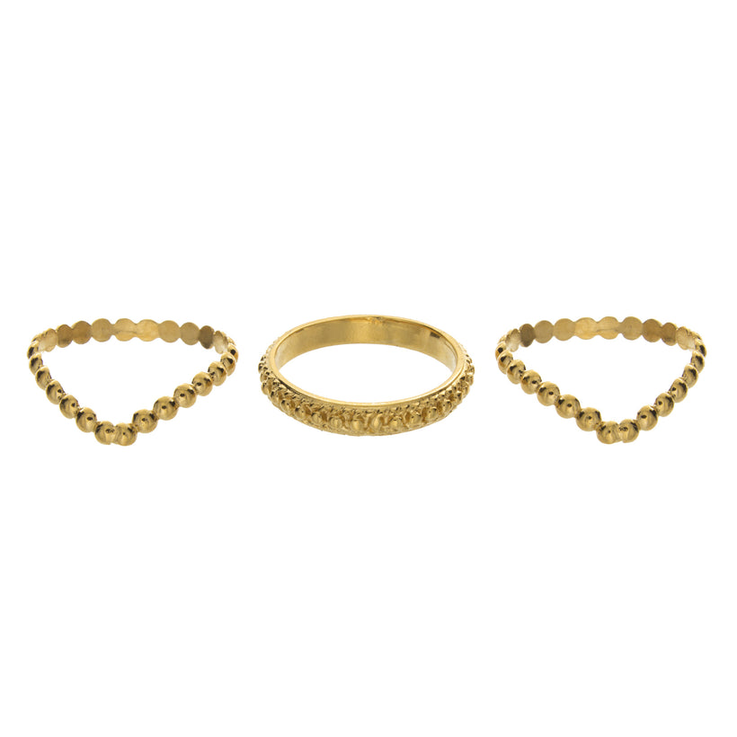 Dot Band Stackable Knuckle Ring
