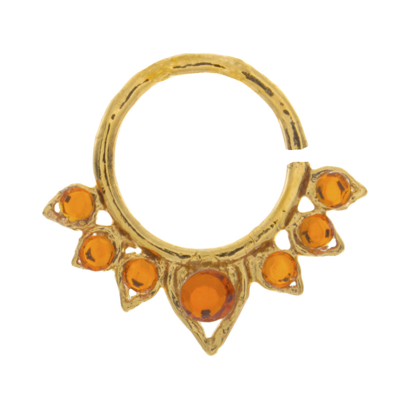 Fancy Orange Jewel Aurora Ring