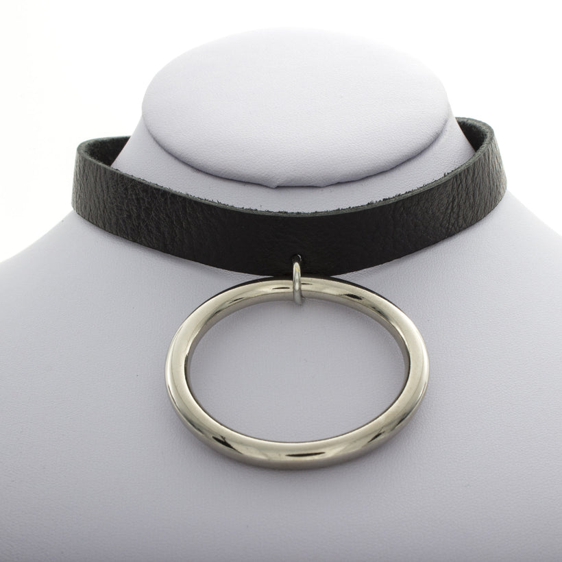 Leather O Choker