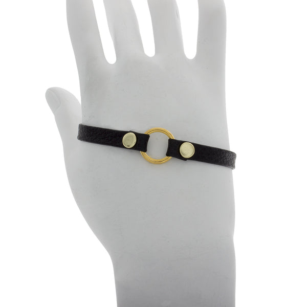 Thin Leather Hand Bracelet