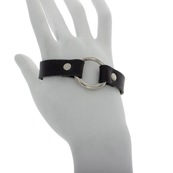 Thick Leather Hand Bracelet