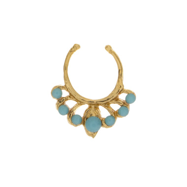Jeweled Turquoise Europa Clip