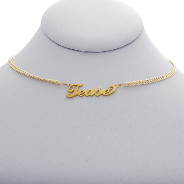 Tease Nameplate Necklace
