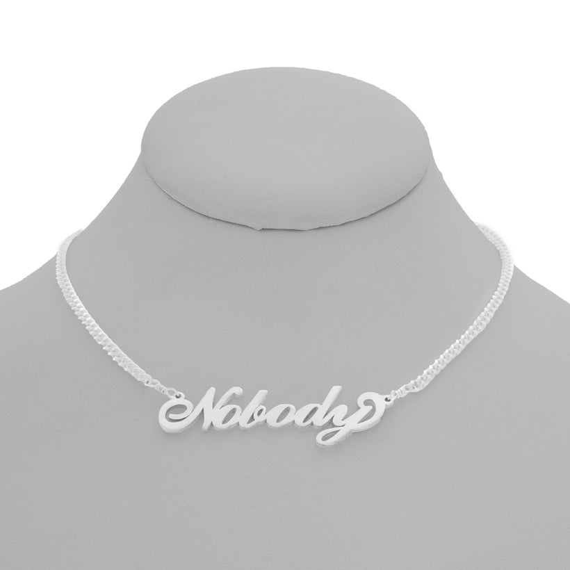 Nobody Nameplate Necklace