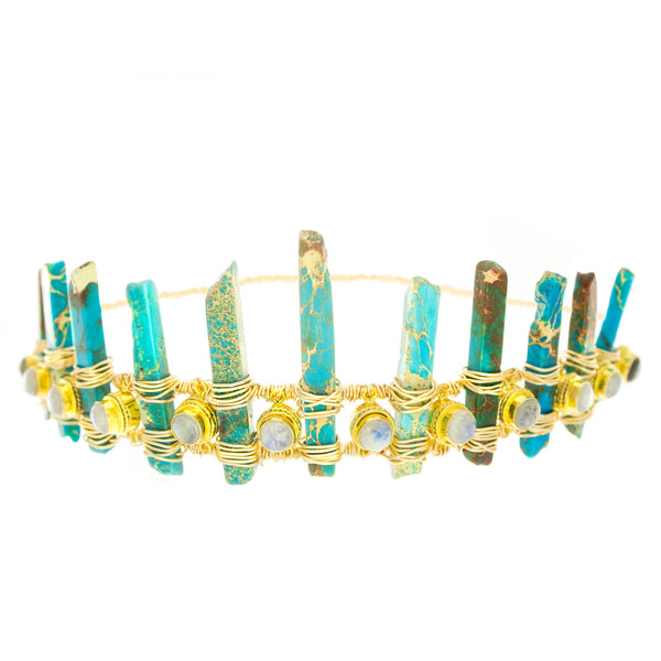 Moon Stone Turquoise Crown